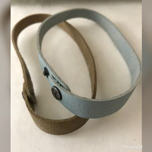 Two Birkenstock leather chokers